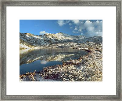 Geissler Mountain And Linkins Lake Framed Print by Tim Fitzharris