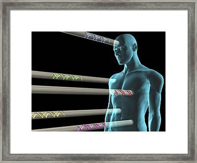 Gene Therapy, Conceptual Artwork Framed Print by Laguna Design