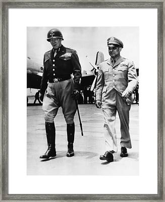 General George S. Patton Jr Framed Print