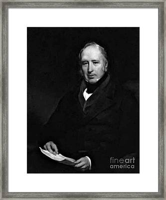 George Cayley, English Aeronautical Framed Print by Science Source