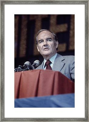 George Mcgovern, 1970s Framed Print