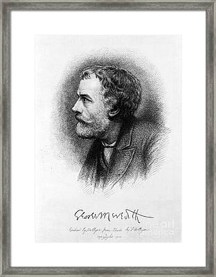 George Meredith Framed Print