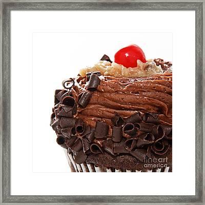 German Chocolate Cupcake 3 Framed Print by Andee Design
