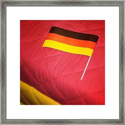 German Flag And Colors Framed Print