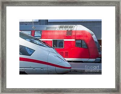 German Trains Framed Print