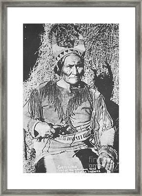 Geronimo, Native American Apache War Framed Print