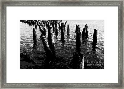 Ghosts On The Hudson Framed Print