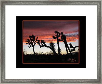 Giants Of Joshua Tree Framed Print