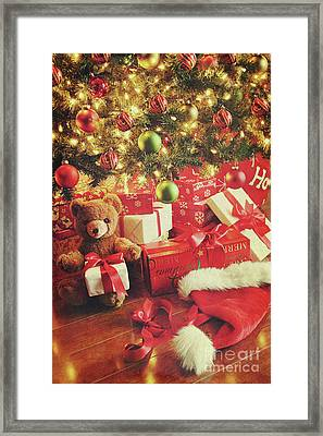 Gifts Under The Tree For Christmas Framed Print