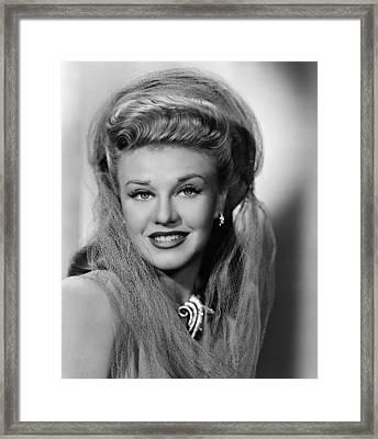 Ginger Rogers 1911-1995, American Framed Print by Everett