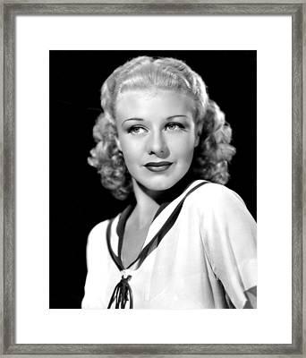 Ginger Rogers, In A Publicity Portrait Framed Print