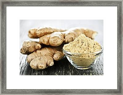Ginger Root Framed Print