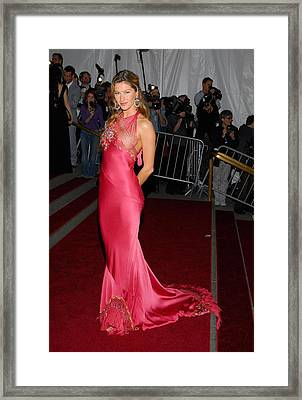 Gisele Bundchen Wearing Dior Haute Framed Print by Everett
