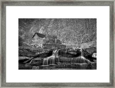 Glade Creek Grist Mill At Babcock Framed Print