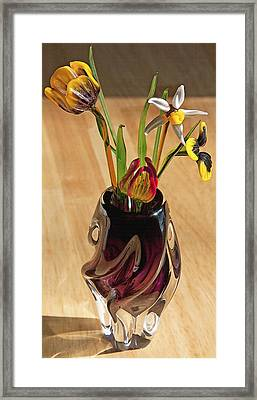Glass Bouquet 1 Framed Print by Steve Ohlsen