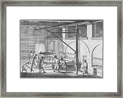 Glass Manufacture, 1751 Framed Print