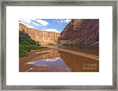Glen Canyon Reflection Framed Print by Carol Barrington