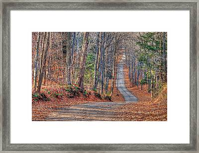 Glen Haffey Road Framed Print by Bruce Kenny