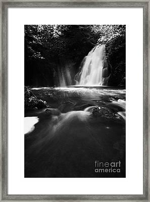 Gleno Or Glenoe Waterfall County Antrim Framed Print by Joe Fox