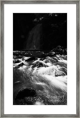 Gleno Or Glenoe Waterfall County Antrim Northern Ireland Framed Print by Joe Fox