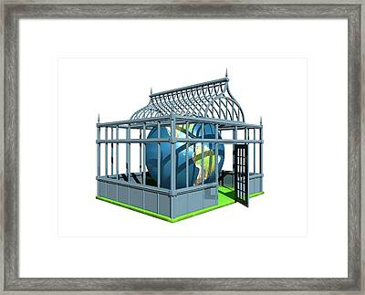 Global Warming, Conceptual Artwork Framed Print by Victor Habbick Visions