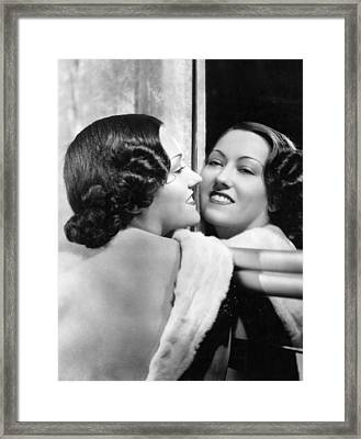 Gloria Swanson, Ca. 1930s Framed Print by Everett