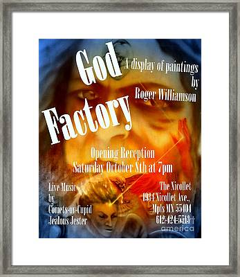 God Factory An Exhibition Of Paintings By Roger Williamson Framed Print