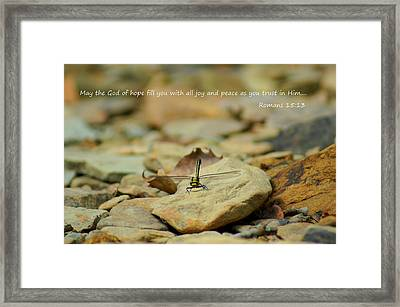 God Of Hope Framed Print by Naturevine Photography