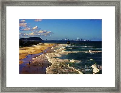 Gold Coast Beaches Framed Print