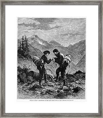 Gold Prospectors, 1876 Framed Print