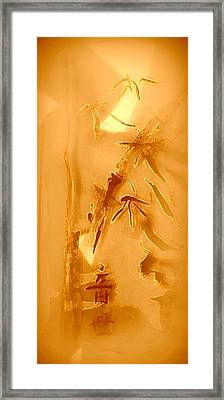 Golden Bamboo Framed Print by Wendy Wiese