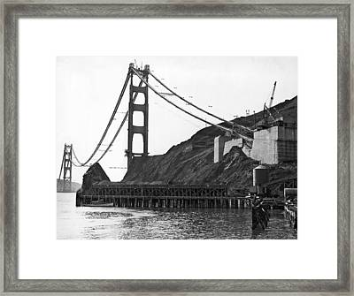 Golden Gate Bridge Work Framed Print