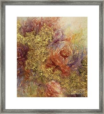 Golden Rose Path Framed Print