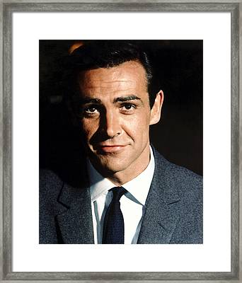 Goldfinger, Sean Connery, 1964 Framed Print