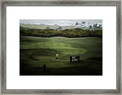 Golf At The Dunes Framed Print by Dale Stillman