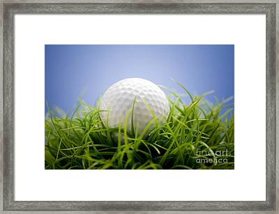 Golfball Framed Print