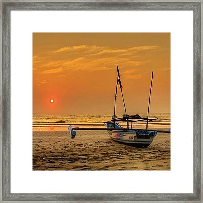 Good Morning #sunrise Framed Print