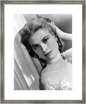Grace Kelly, Ca. 1950s Framed Print by Everett