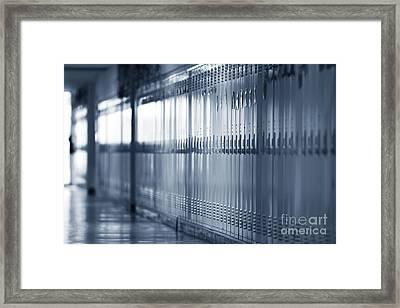 Grade School Lockers Framed Print by Will & Deni McIntyre