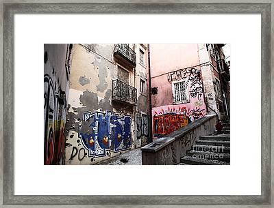 Graffiti Alley Framed Print by John Rizzuto