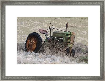 Grampa's Old Tractor Framed Print by Steve McKinzie