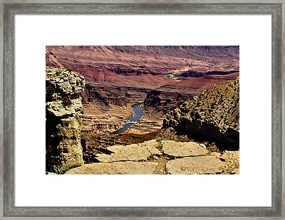Grand Canyon Colorado River Framed Print by Bob and Nadine Johnston