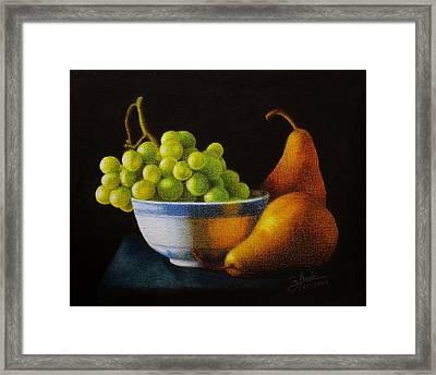 Grapears Framed Print by Bleuie  Acosta