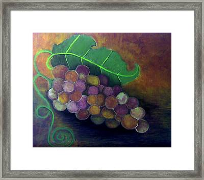 Framed Print featuring the painting Grapes by Monica Furlow