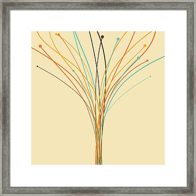 Graphic Tree Framed Print
