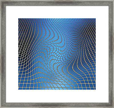 Gravity Waves In Space-time, Artwork Framed Print by Victor De Schwanberg