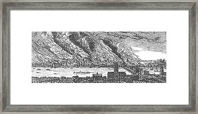 Great Fire Of London, 1666 Framed Print