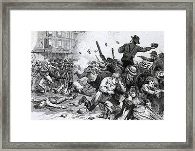 Great Railroad Strike, 1877 Framed Print by Photo Researchers