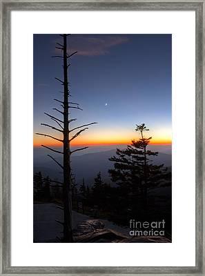 Great Smokie Mountains Sunset Framed Print