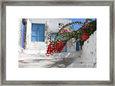 Framed Print featuring the photograph Greece by Milena Boeva